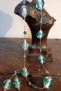 Parures perles turquoises irisées