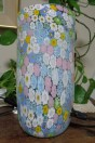 Lampe vase Murrines millefiori couleur primevère