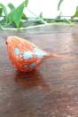 Mésange rouge en verre de Murano