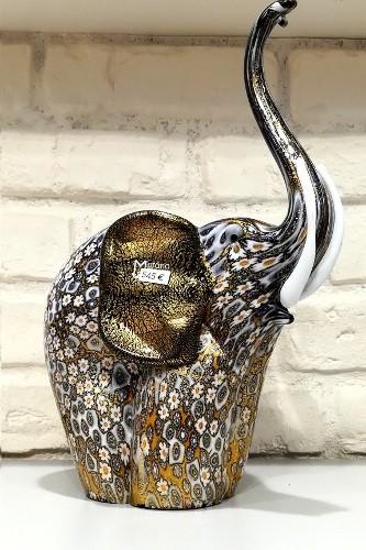sculpture l phant en verre de murano. Black Bedroom Furniture Sets. Home Design Ideas