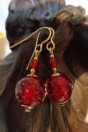 Boucles rouges micro bulles
