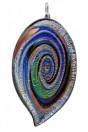 Spirale Grande multicolor feuille d'argent avec cordon
