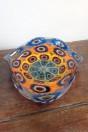 Coupe ondulée Fazzoletto orange et bleu