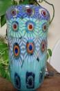Lampe vase grandes Murrine couleur vert turquoise