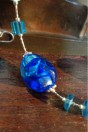 zoom perles bleues dur