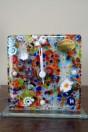 Horloge multicolor en verre de Murano