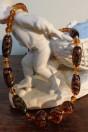 Collier perles ambrées style phéniciennes