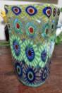 Vase GD murrines quadra tons vert et turquoise