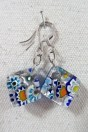 Earrings ARF with silver leaf and murrines