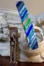 Barette bleue en verre de Murano